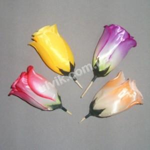 Роза бутон атлас ГВ 7 цветок искусственный