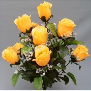 Роза бутон атлас  А 062/12 букет искусственный