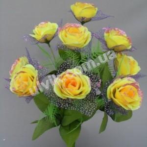 Роза чайная М17/9 букет искусственный