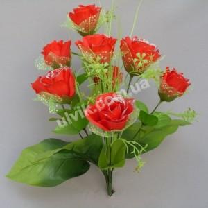 Роза фатин М 33/9 букет искусственный