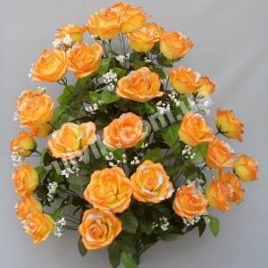 Роза раскрытая С 26В/36  букет искусственный