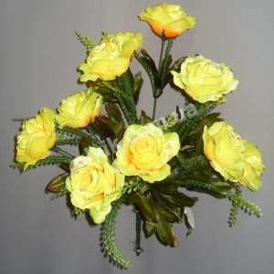 Роза гофре С 31/12 букет искусственный