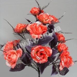 Роза черный лист  М 39/12 букет искусственный