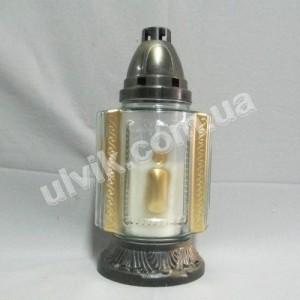 Свеча большая 36  лампада стеклянная