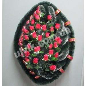 Волан малый роза ВУ 38 венок украшенный