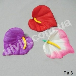 Калла шёлк средняя ПК 3 цветок искусственный
