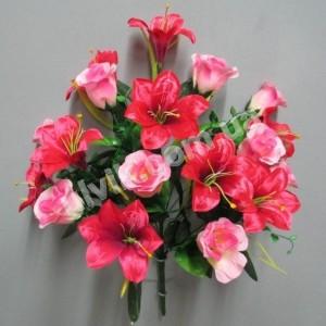 Роза лилия атласная 927 букет искусственный