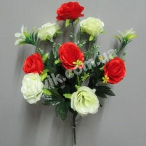 Роза атласная 136 букет искусственный