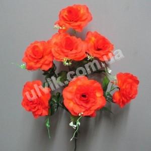 Роза круглая 283 букет искусственный