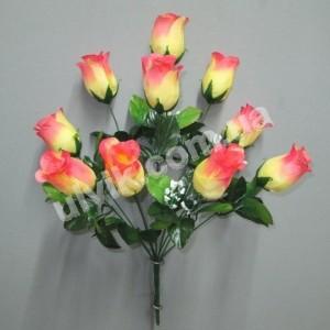 Бутоны роз с кашкой 310 букет искусственный