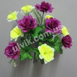 Роза с нарциссом 577 букет искусственный