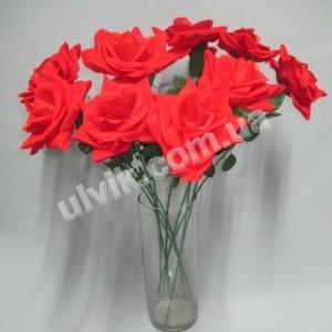 Роза раскрытая бархат Цт-02 цветок искусственный