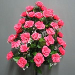 Роза чайная 120 букет искусственный