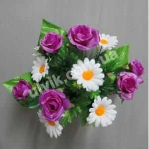 Роза ромашка 190 букет искусственный