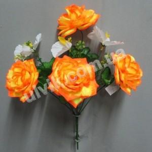 Роза орхидея 597 букет искусственный