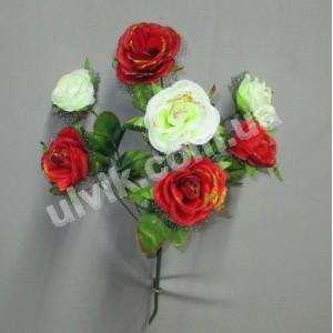 Роза вдова И 1156 букет искусственный