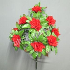 Роза с листом И 1234 букет искусственный