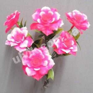 Роза из пластика 6032 букет искусственный