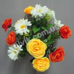 Роза ромашка Мио 666 букет искусственный