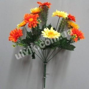 Хризантема разноцветная 689 букет искусственный
