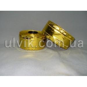 Корона рифлёная золото ЛF2 5/25 лента декоративная