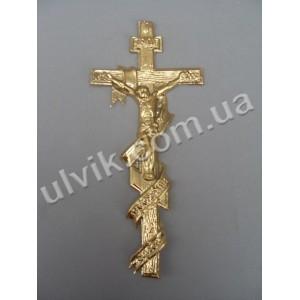 Крест 1,22 с распятием и лентой