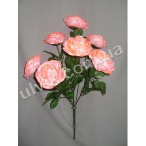 Роза атлас 907 букет искусственний