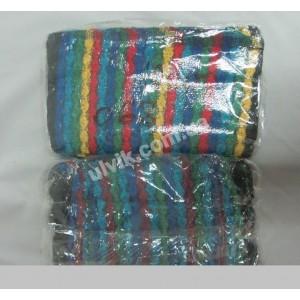 Темные листики полотенце 463к махровое для кухни