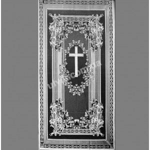 """""""Крест"""" тюль 491 покрывало ритуальное"""