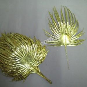 Лист Пальмы ВА 004 G золотой малый пластмассовый