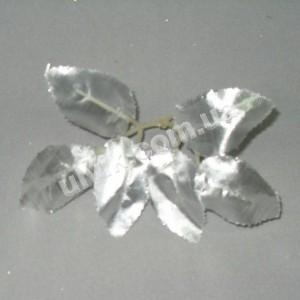 Лист розы серебро S 139 искусственный