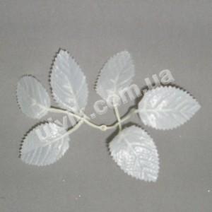 Лист роза белая W 139 искусственная