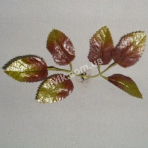 Лист Розы осень В 139 искусственный