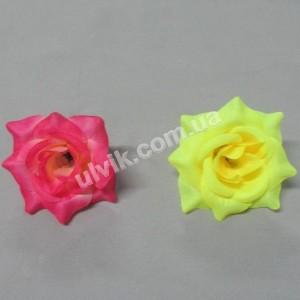 Роза шелк RхбК 1 цветок искусственный